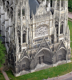 Monet spent six months painting the Rouen Cathedral, working to capture — sometimes on 10 canvases at a time — the way light played across the Gothic structure.