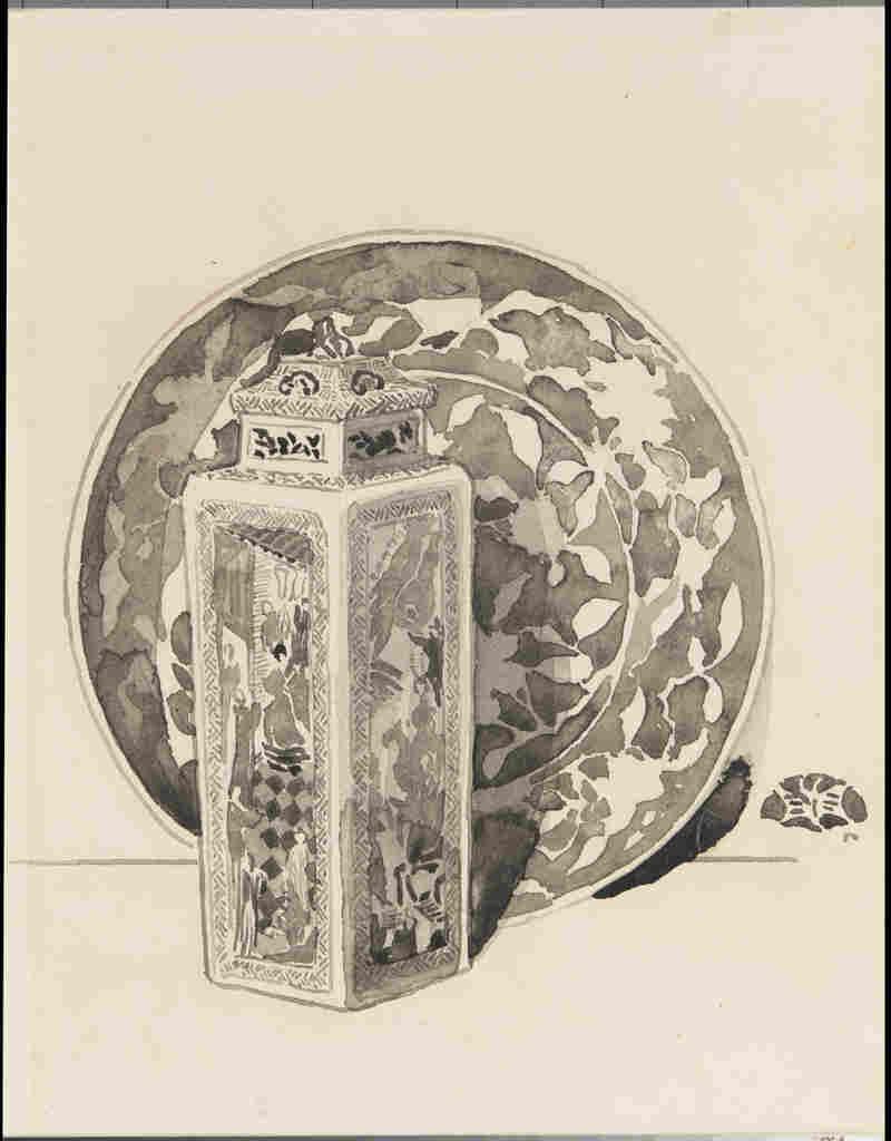 Chinese porcelain illustration by Whistler
