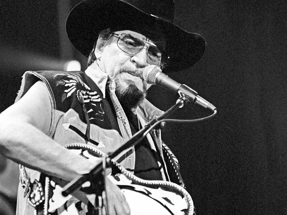 Waylon Jennings performs live in Nashville on Jan. 5, 2000. The singer died in 2002. (Rusty Russell/Stringer/Getty Images Entertainment)