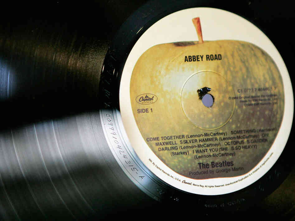 Apple label on Abbey Road