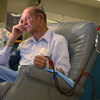 Man receiving dialysis