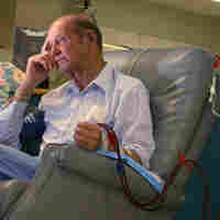 Man receiving dialysis