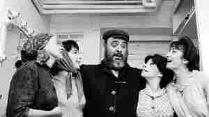 Zero Mostel as Tevye and Fiddler on the Roof cast