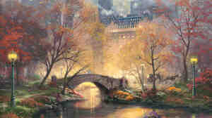 'Central Park In The Fall' by Thomas Kinkade
