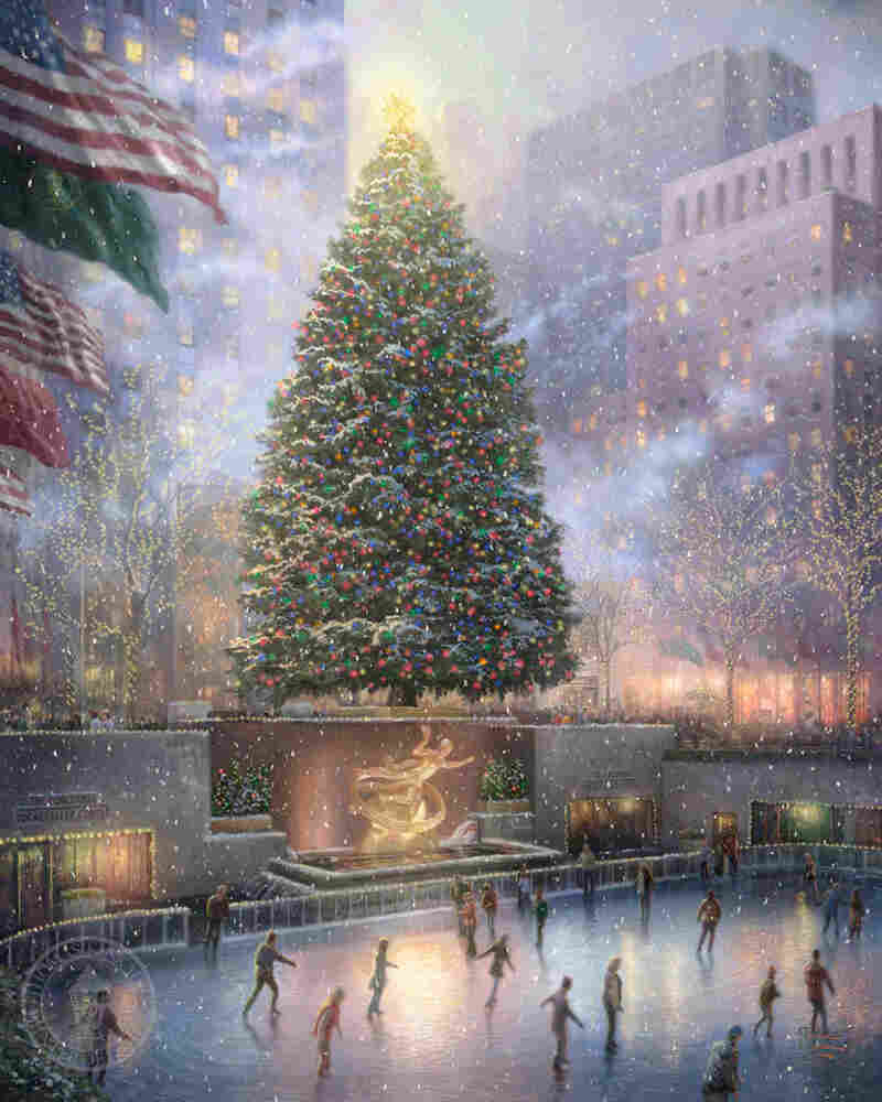'Christmas in New York' by Thomas Kinkade
