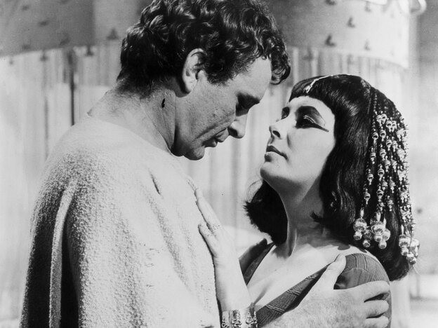 Richard Burton played Mark Antony tond Elizabeth Taylor starred as Cleopatra in a 1963 silver-screen epic that helped shape the queen's image in the modern mind.