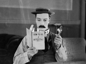 Buster Keaton as Sherlock Jr.