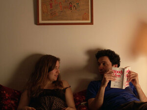 Lena Dunham as Aura and Alex Karpovsky as Jed in Tiny Furniture