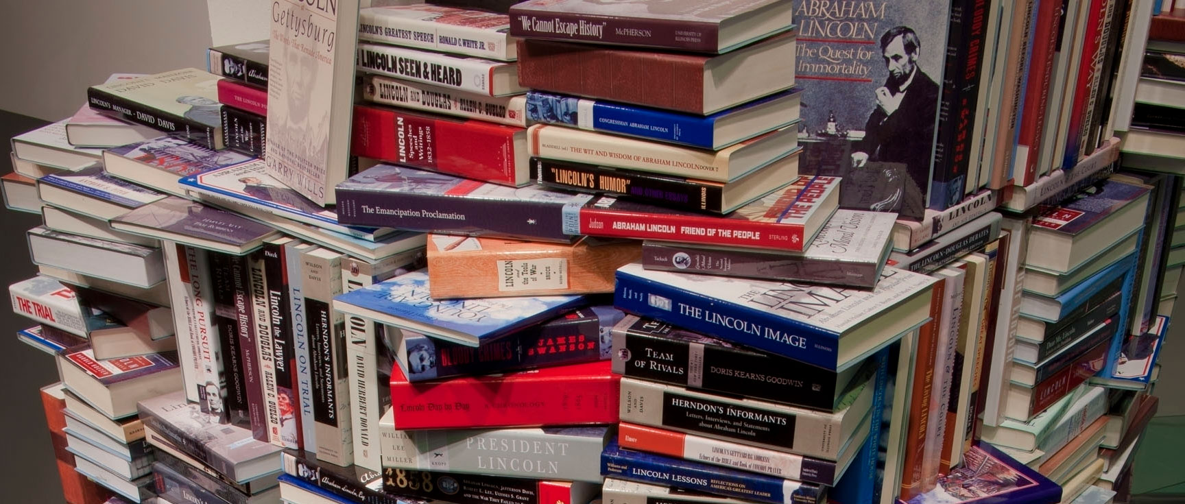 Forget Lincoln Logs A Tower Of Books To Honor Abe Npr