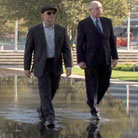 Carl Kasell and Peter Sagal walk on water