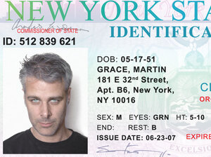 Martin Grace's New York state ID card