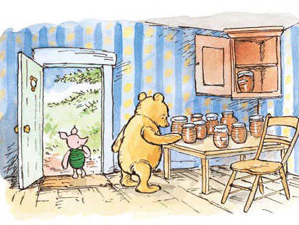 Pooh with Piglet, credit Mark Burgess