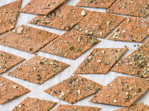 Crispy Rye and Seed Crackers