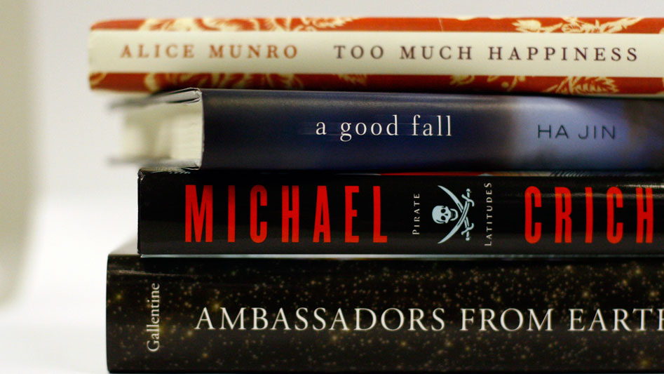 W: Stack of featured books.