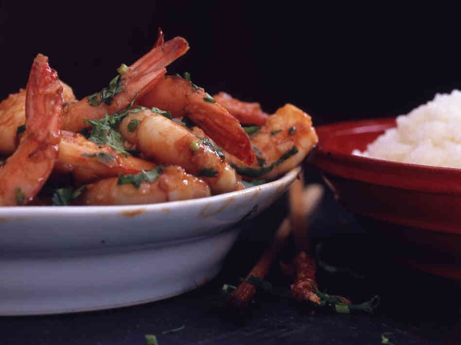 Recipe: Hunan Hot-and-Spicy Shrimp : NPR