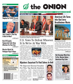 Post-Sept. 11 Issue of 'The Onion'