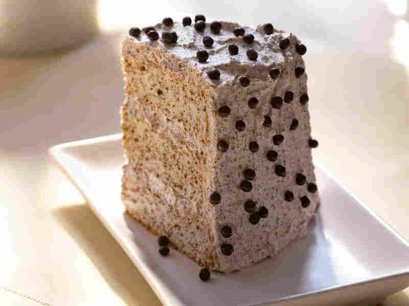 Chocolate Tweed Angel Food Cake