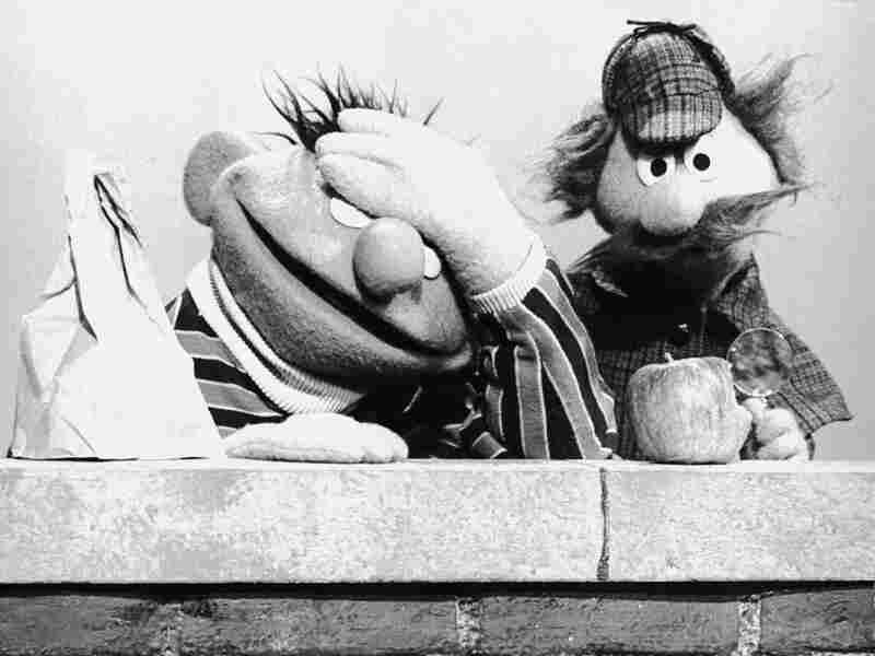 Muppets Ernie and Sherlock Hemlock on 'Sesame Street'