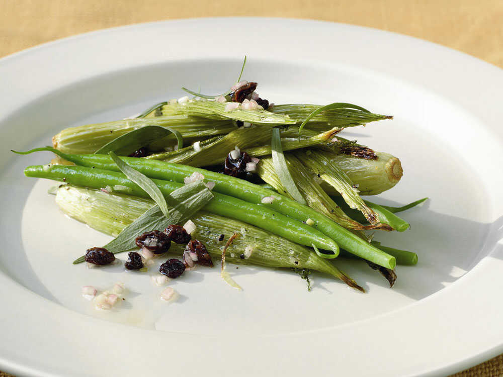 Roasted Fennel and Green Beans