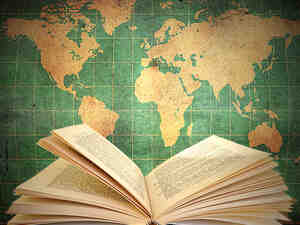 Book and map of the world