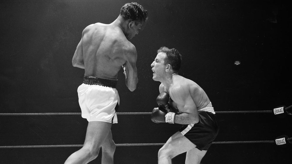 Sugar Ray Robinson Fights Jake LaMotta