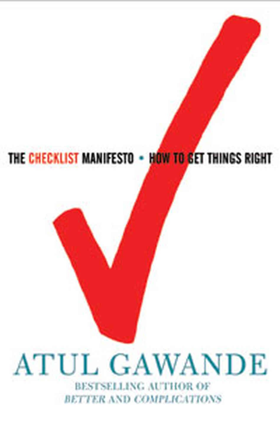 'The Checklist Manifesto' Cover