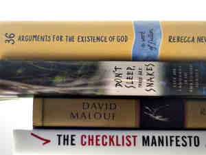 36 Arguments For The Existence of God; Ransom; Checklist Manifesto; Don't Sleep, There Are Snakes