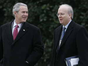 President George W. Bush and Karl Rove