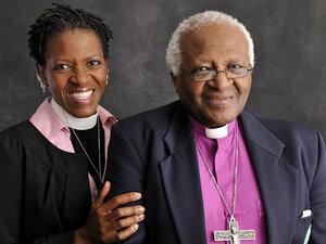 Mpho Tutu and her father, Desmond Tutu