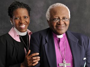 Mpho Tutu and her father, Desmond Tutu