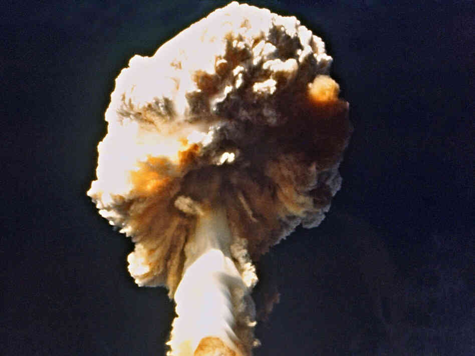 French nuclear test at Mururoa, French Polynesia, 1970