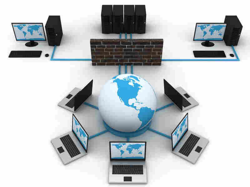 graphic representation of a computer network