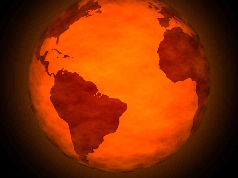 NASA Rendering of Earth (Orange)