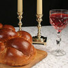Challah, candles and wine for the Jewish Sabbath (Shabbat)
