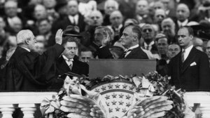 On March 4, 1933, President Franklin Roosevelt took the oath of office administered by Chief Justice Charles E. Hughes. Four years later, Roosevelt would attempt to stack the Supreme Court with liberal justices.