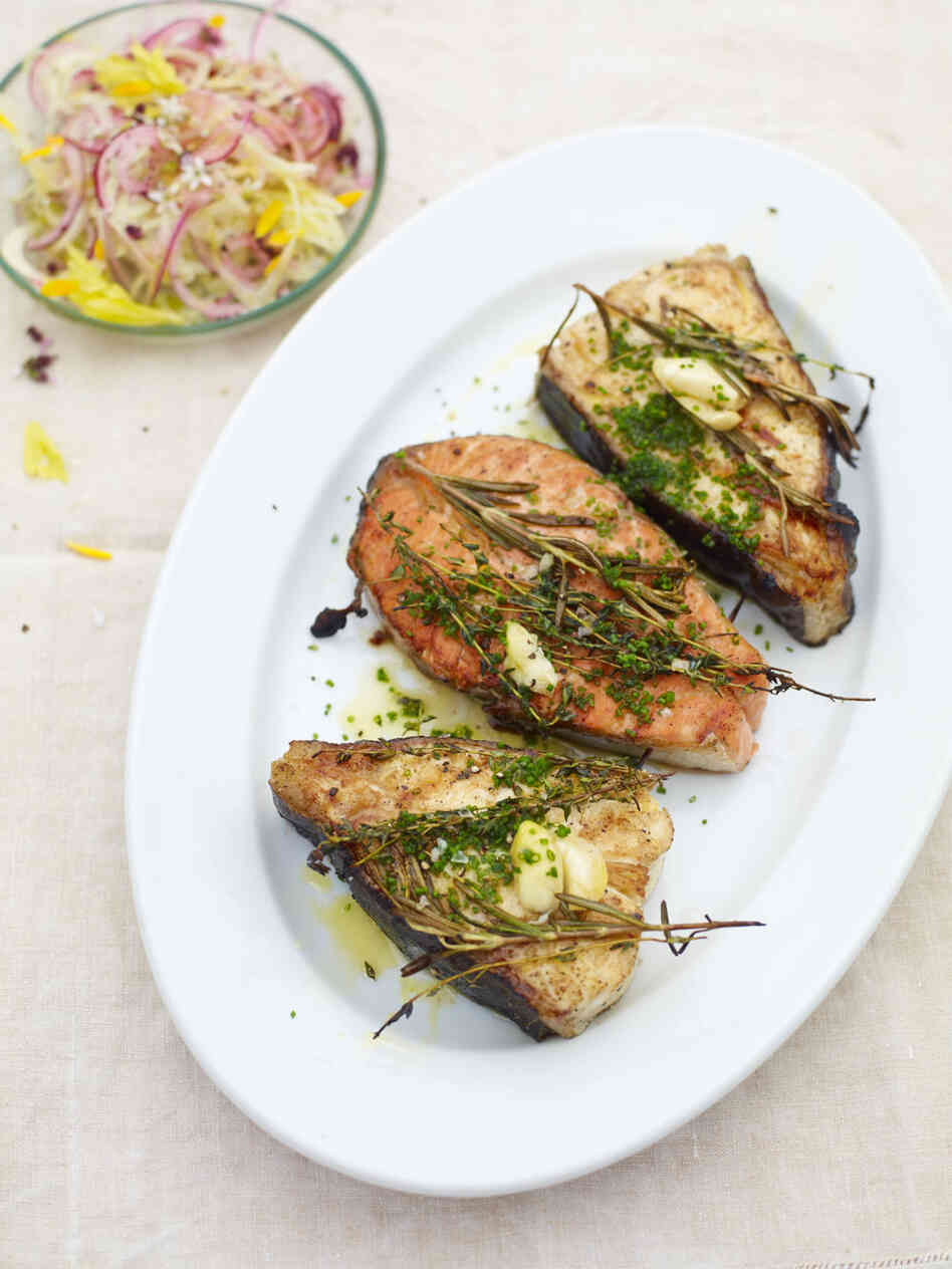 Recipe: Grilled Fish Steak : NPR
