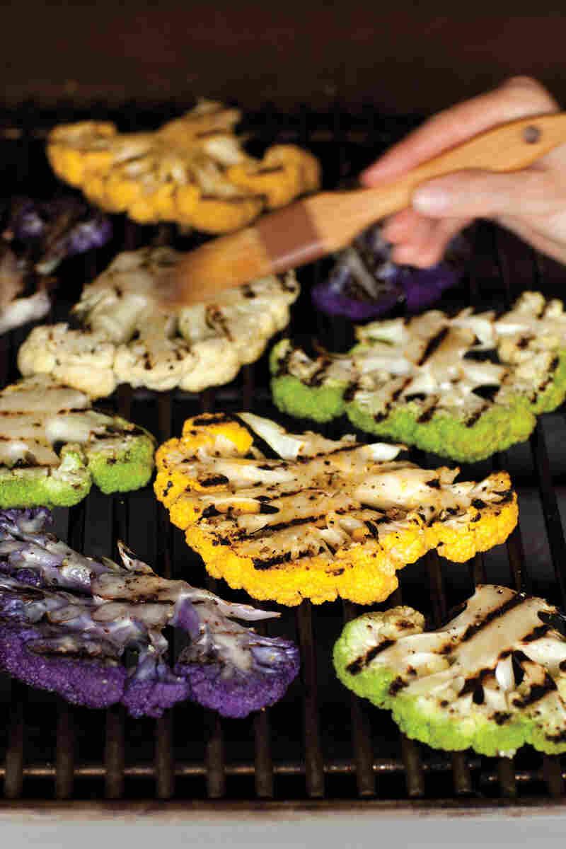 recipe  grilled cauliflower steaks with tahini sauce   npr