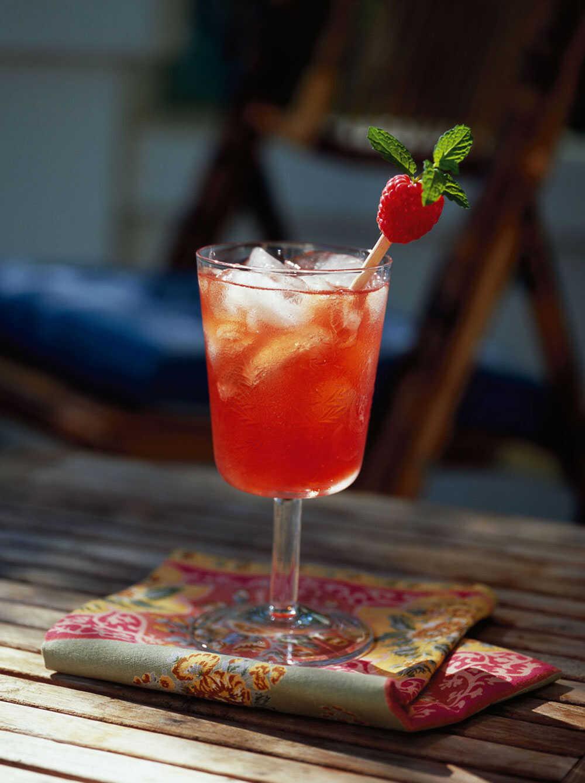 Minted Raspberry Iced Tea