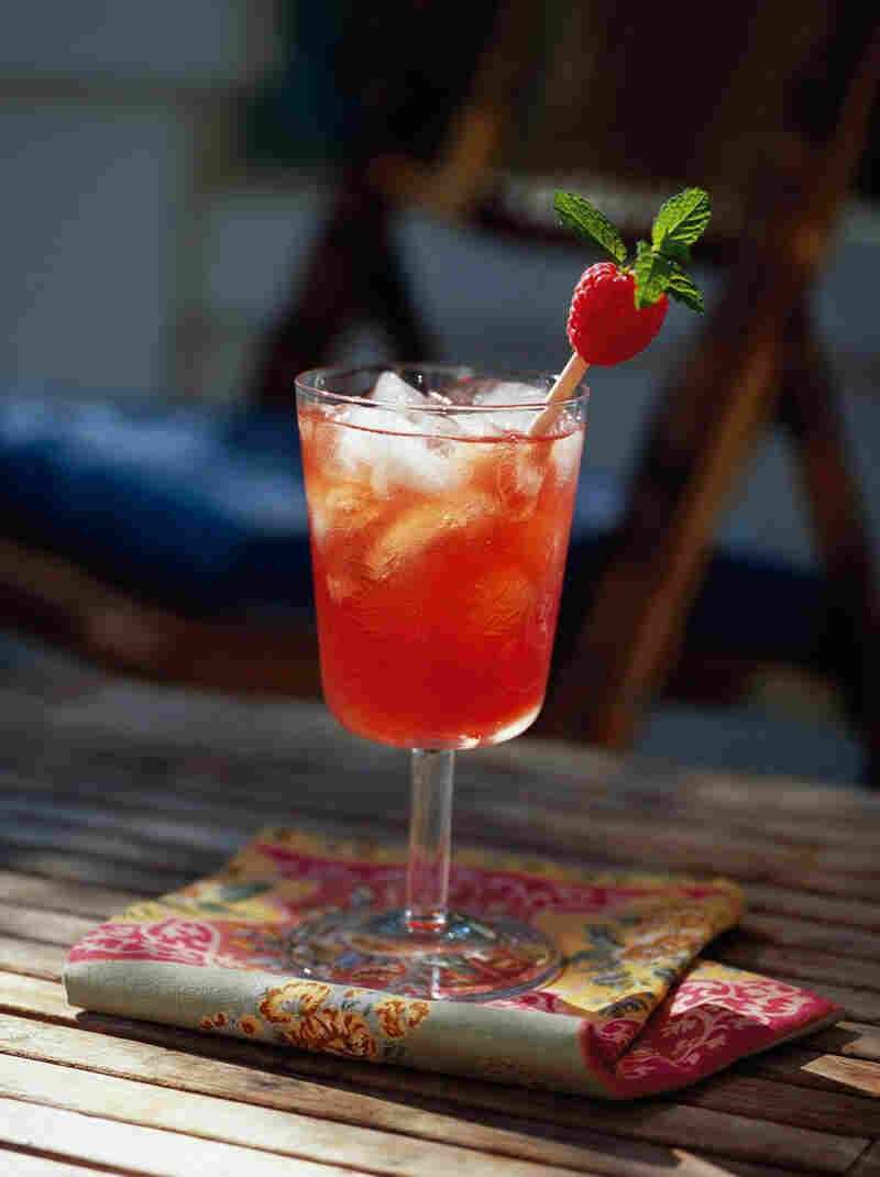 Minted Raspberry Iced Tea