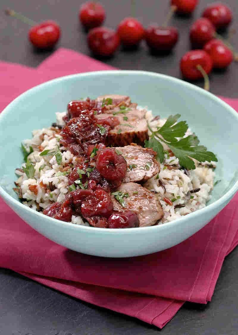 Grilled Pork Tenderloin with Fresh Cherry Relish