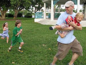 Brad Meltzer and his children