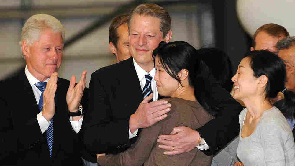 President Clinton, Al Gore, Laura Ling, Euna Lee