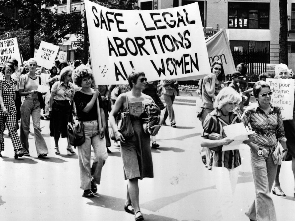 Women take part in a 1977 demonstration in New York City demanding safe and legal abortions for all women. (Peter Keegan/Stringer/Hulton Archive/Getty Images)