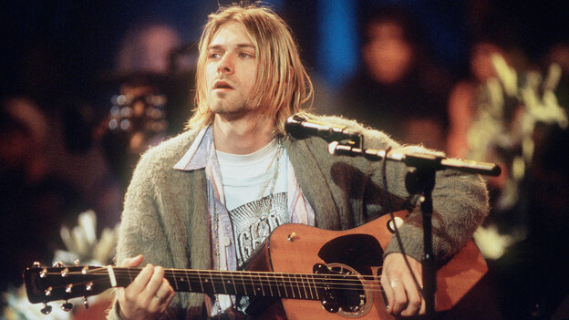 """Most people already know Kurt Cobain the rock star. But author Karan Mahajan says Kurt Cobain the writer is """"funny, self-aware, and snotty with a knack for off-the-cuff profundity."""" (Getty Images)"""
