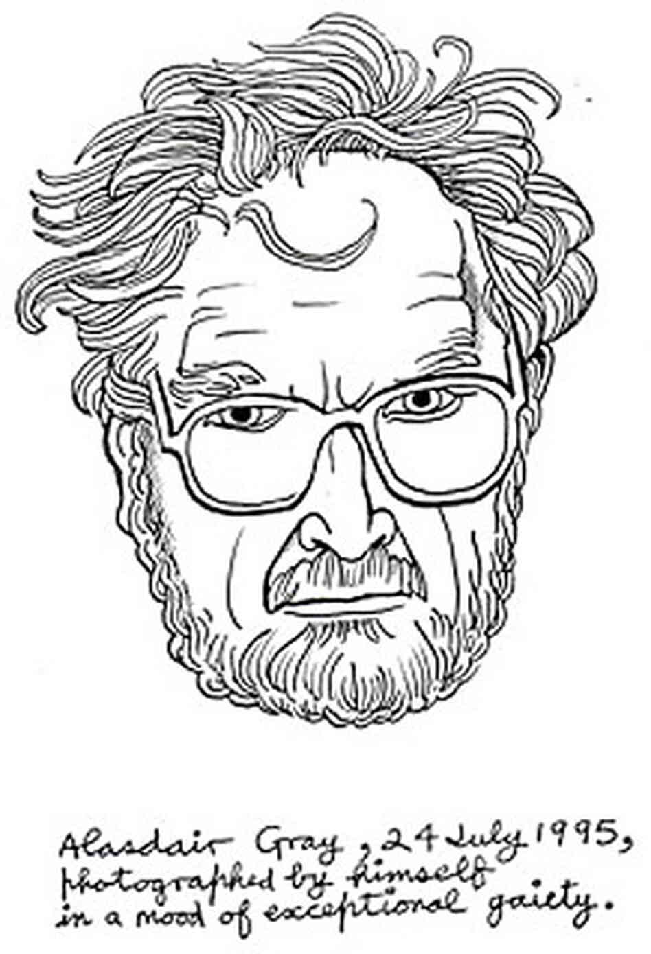 Alasdair Gray self-portrait