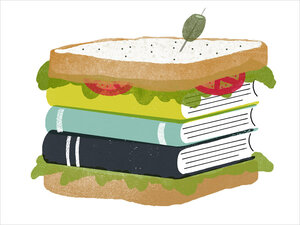 Illustration: Books in a sandwich