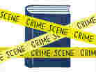 Illustration: Book behind crime scene tape.