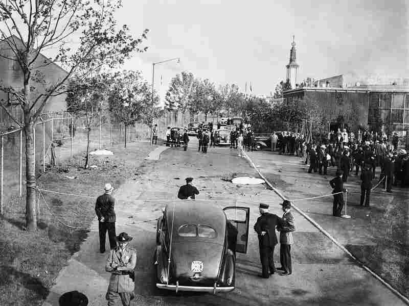 British Pavilion after the bomb