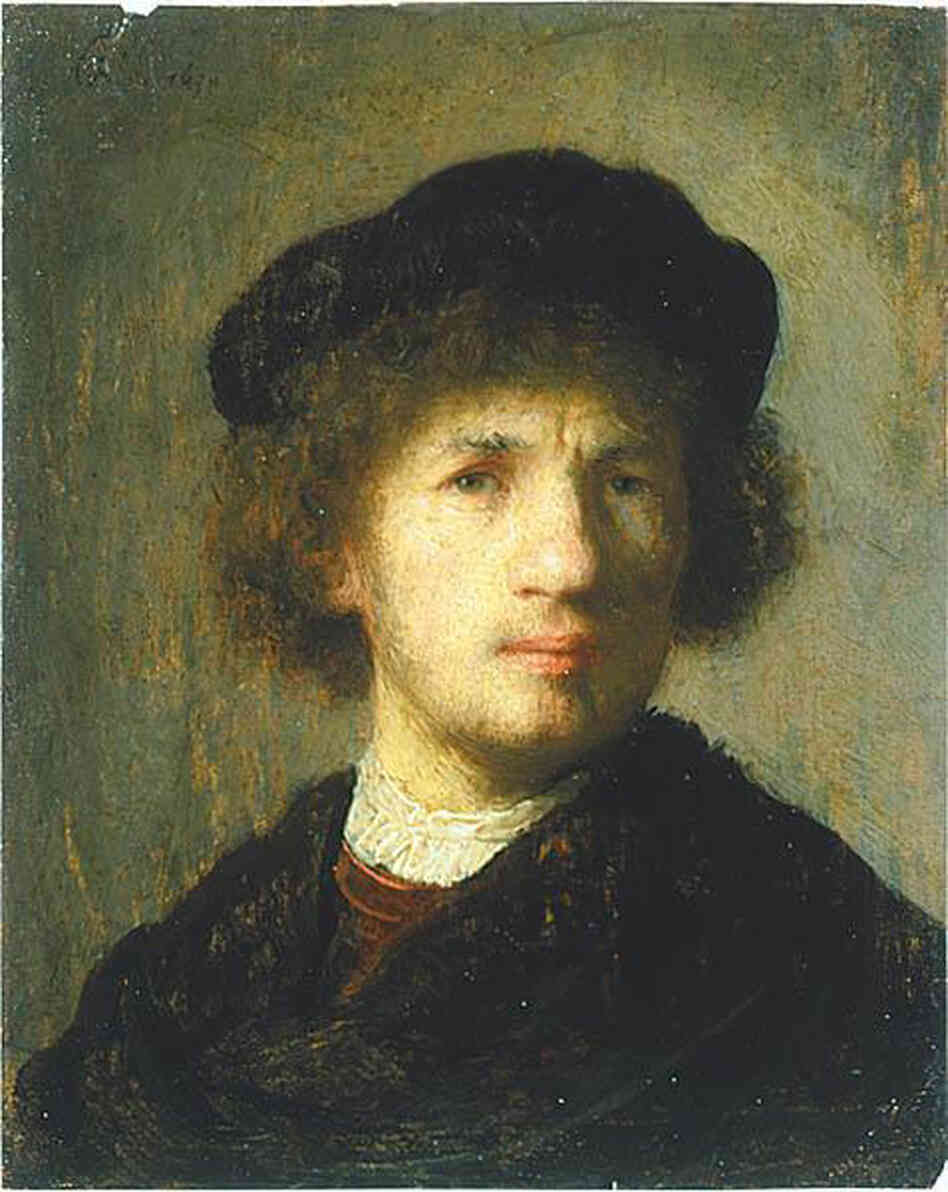 """Self portrait"" by Rembrandt, 1630"