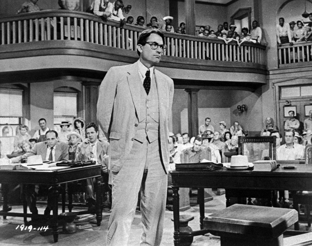Gregory Peck plays attorney Atticus Finch, in 'To Kill A Mockingbird'